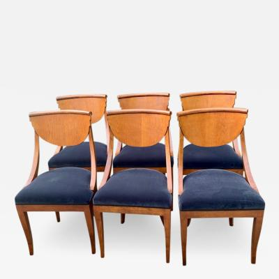 6 Armless Italian Deco Dining Chairs