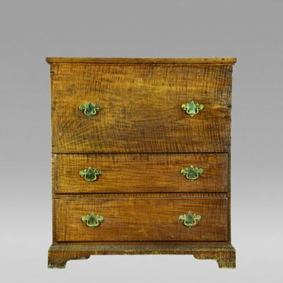 Exceptional Tiger Maple Blanket Chest with Two Drawers NE c 1770