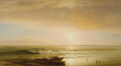 William H Willcox Atlantic City from Brigantine Beach 1874