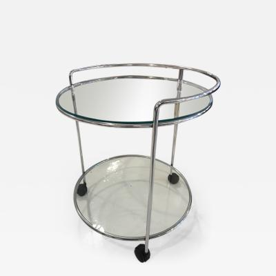 70 s chrome bar cart