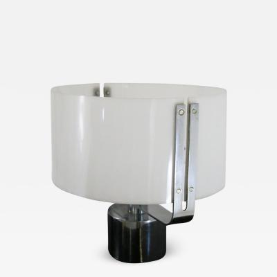 70S TABLE LAMP IN PLEXIGLASS AND CHROME STEEL