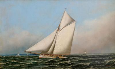 Antonio Nicolo Gaspara Jacobsen Racing Yacht MAYFLOWER c 1886