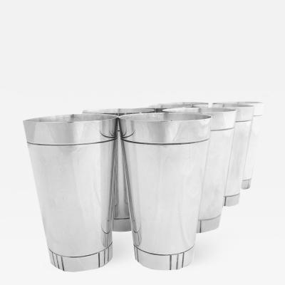 8 Sterling Cups by Erik Magnussen for Gorham