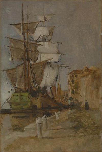 John Henry Twachtman Venetian Sailing Vessel