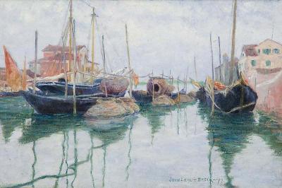 John Leslie Breck Giudecca Canal Venice 1897