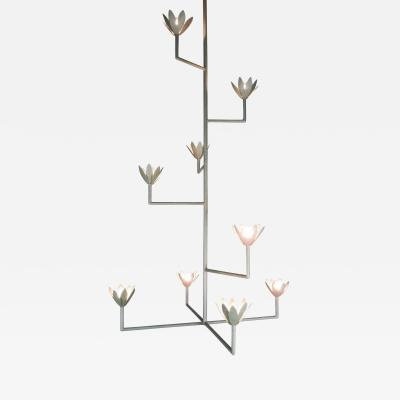 9 Flower Cross Bar Chandelier