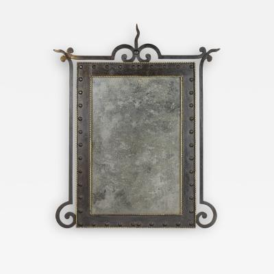 A 1920s Wrought Iron Mirror