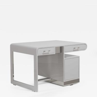 A 1950s Grey Lacquered Desk