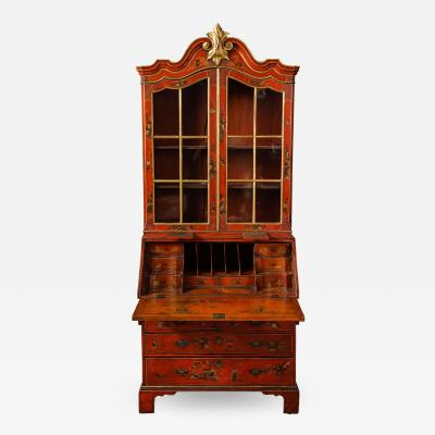 A 19th Century English Red Lacquer Secretary