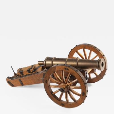 A 19th Century Scale Model of an Artillery Cannon