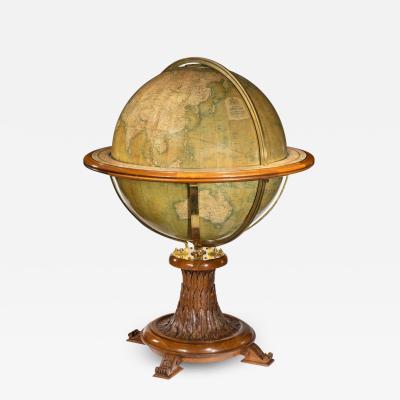 A 30 inch walnut terrestrial globe