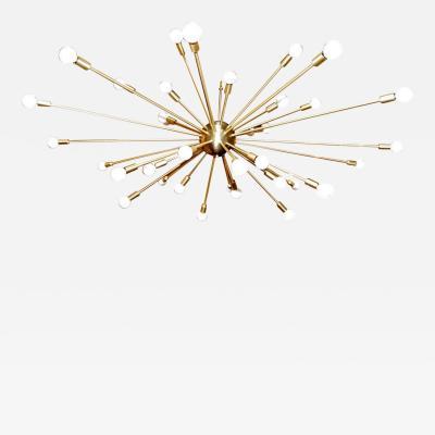 A 36 Light Brass Sputnik Light Fixture