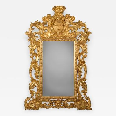 A Baroque Style Carved Giltwood Mirror