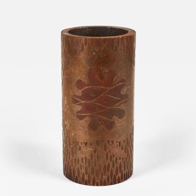 A Batik Printing Roller as a Vase