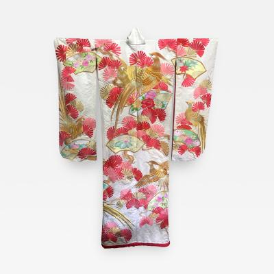 A Beautiful Embroidered Vintage Japanese Ceremonial Kimono