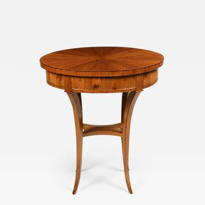 A Biedermeier Single Drawer Occasional Table