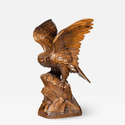 A Black Forest walnut model of a golden eagle attributed to Alfred St hli