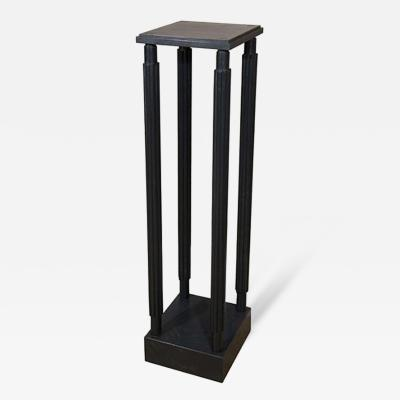 A Black Painted Model Stand Designed by Sir John Soane