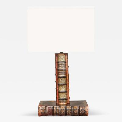 A Books Lamp with Custom Shade
