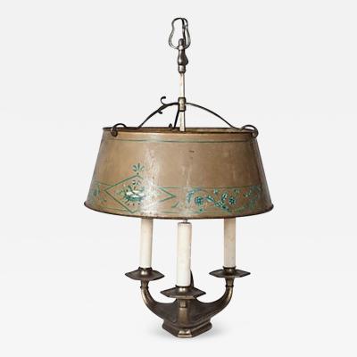 A Bouillotte Candlestick Lamp