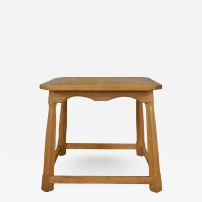 A Brandt Ranch Oak Furniture Larger ranch oak lamp table end table with natural oak finish by a brandt