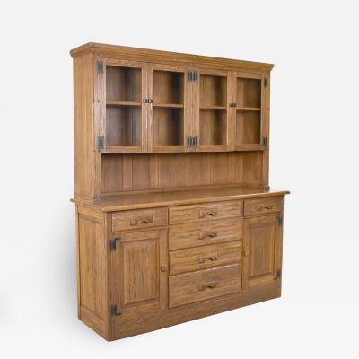 A Brandt Ranch Oak Furniture Vintage A brandt ranch oak sideboard china hutch cabinet western rustic