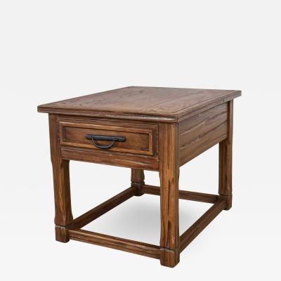 A Brandt Ranch Oak Furniture Vintage ranch oak drawered end table acorn brown finish by a brandt
