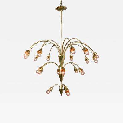 A Brass 21 Light Cascade Chandelier