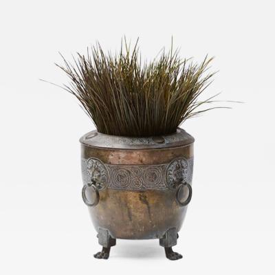 A Brass Pot Planter
