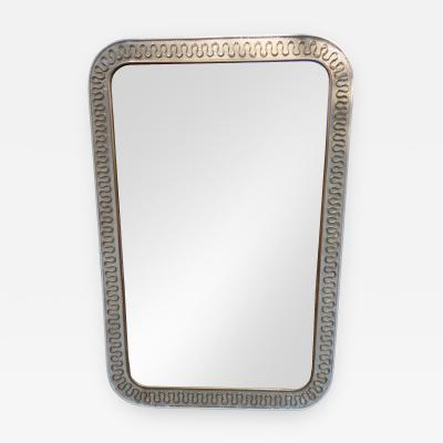 A Brass and Metal Wall Mirror by Carlo Erba Italy 1950