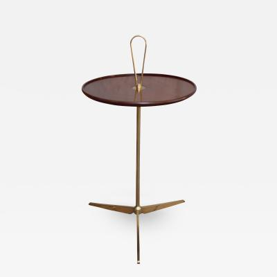 A Brass ard Wood Occasional Table Italy 50