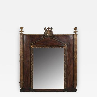 A Carved Gilt Wood and Faux Bois Mirror