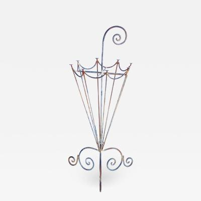 A Charming French 1920s Metal Openwork Umbrella Stand