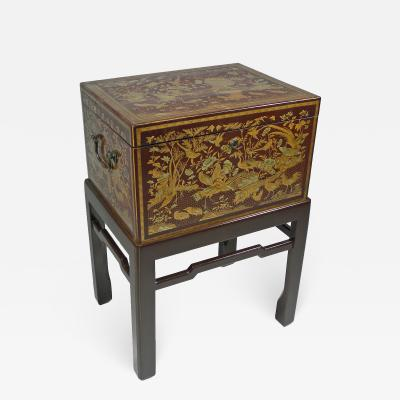 A Chinese Export Lacquer Tea Chest