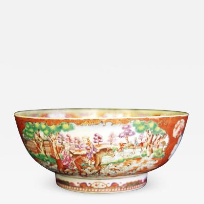 A Chinese Export Porcelain Hunt Bowl