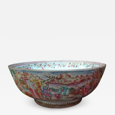 A Chinese Export Punch Bowl