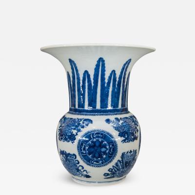 A Chinese Export Underglaze Blue and White Fitzhugh Vase