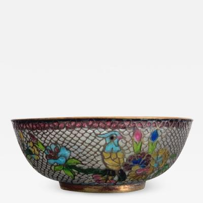 A Chinese Plique a Jour Bowl