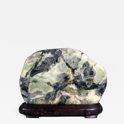 A Chinese Scholar Stone in the Form of a Jade Boulder