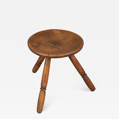 A Circular 19th Century Small Milking Stool