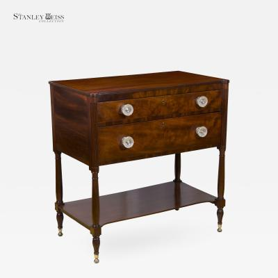 A Classical Mahogany 2 Drawer Server Dresser New York Phyfe School c 1810 30