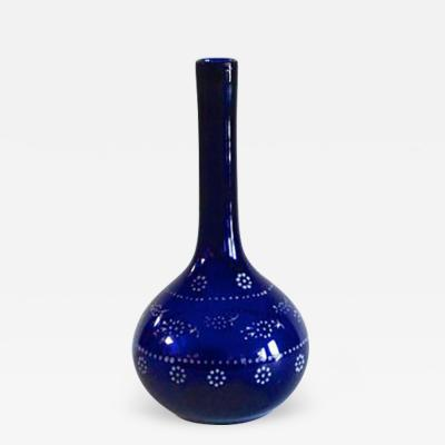 A Cobalt Barber Bottle