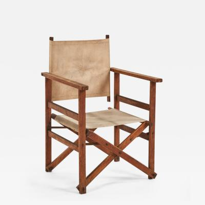 A Collapsible Canvas Directors Chair