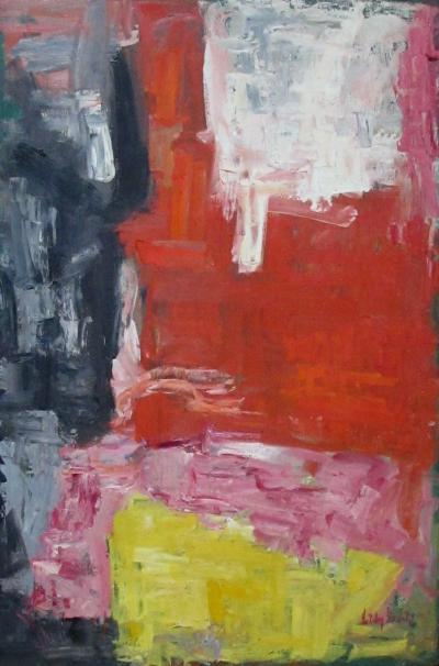 A Colorful American Mid century Abstract Expressionist Painting