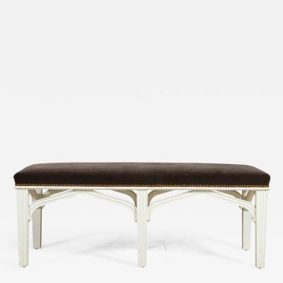 A Contemporary Gothic Revival Bench after a design by Chippendale