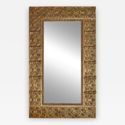 A Continental Louis XIV Style Gilded Mirror