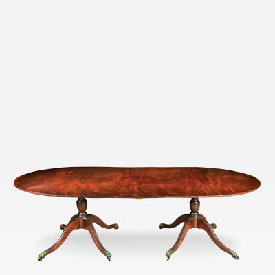 A Distinctive Two Part Pedestal Base Dining Table Philadelphia Circa 1810