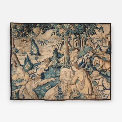 A FLEMISH ALLEGORICAL TAPESTRY 17TH CENTURY