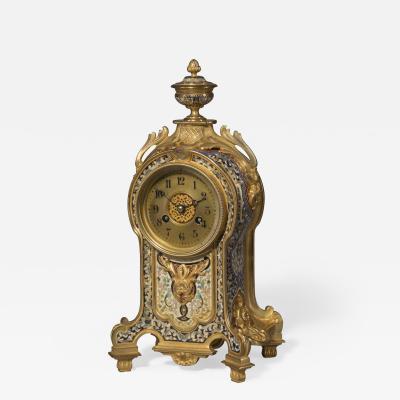 A Fine Champlev Enamel Clock