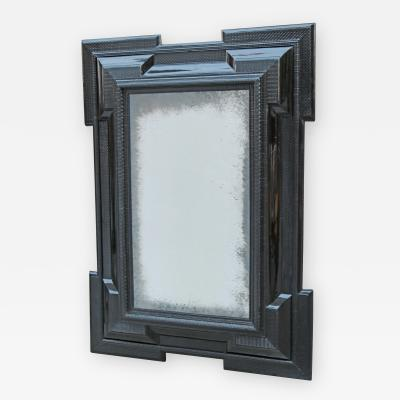 A Fine Flemish Ebonized Mirror